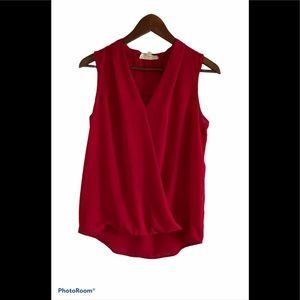 3/$30 Pink Rose red sleeveless blouse